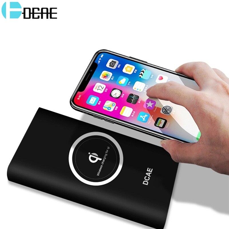 DCAE Qi Caricabatterie Wireless 10000 mah Accumulatori e caricabatterie di riserva Per il iphone XS Max XR X 8 Samsung S9 S8 Usb Powerbank Mobile batteria Esterna del telefono