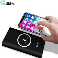 Qi Wireless Charger 10000mAh Power Bank For IPhone X 8 Plus Samsung Note 8 S8 Plus