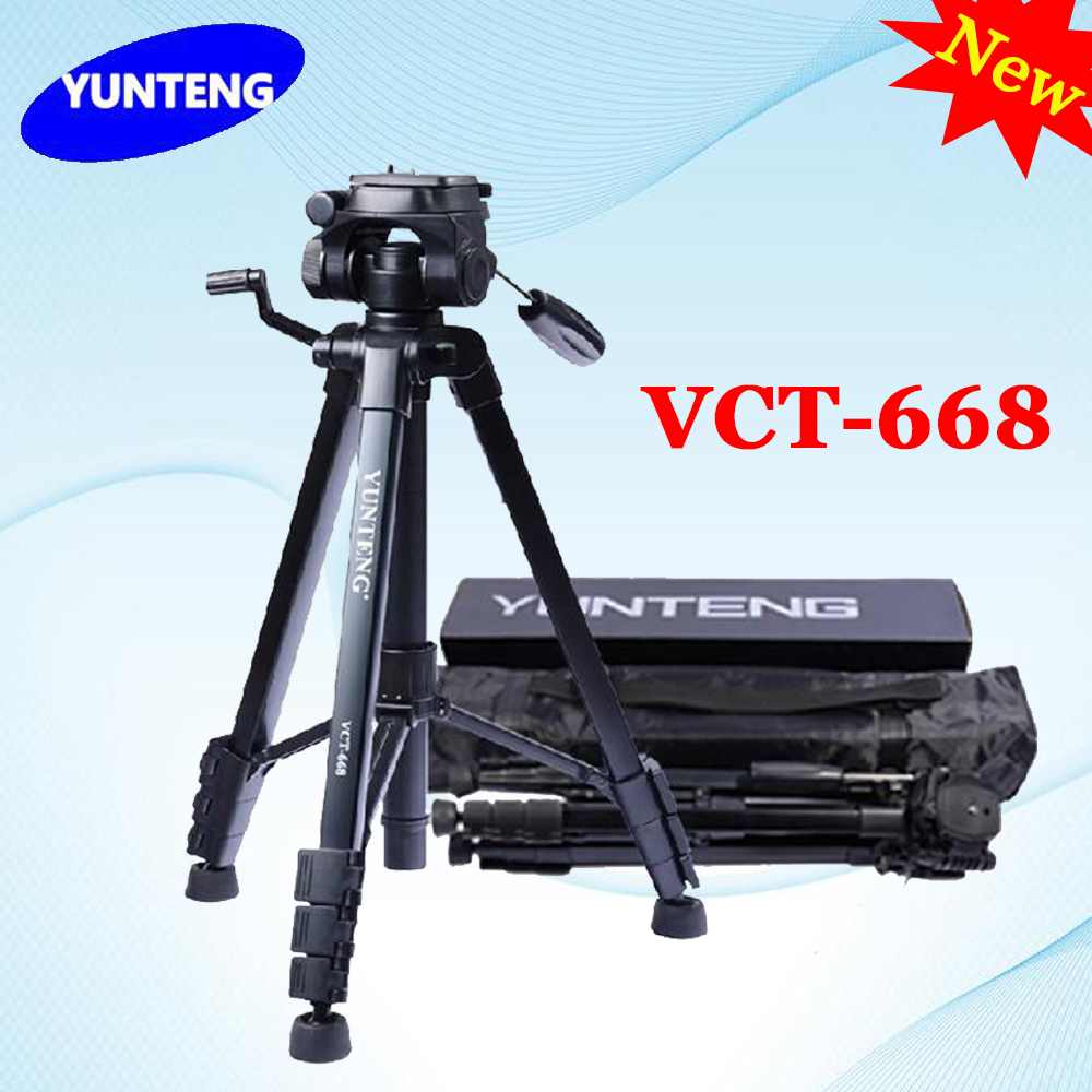 New YUNTENG VCT-668 668 Professional Photography Camera Pro Tripod with Damping Head Fluid Pan For Canon Nikon Sony DSLR Camera new professional aluminum alloy yunteng vct 668 tripod for slr dslr camera maximum load 3kg with carry bag