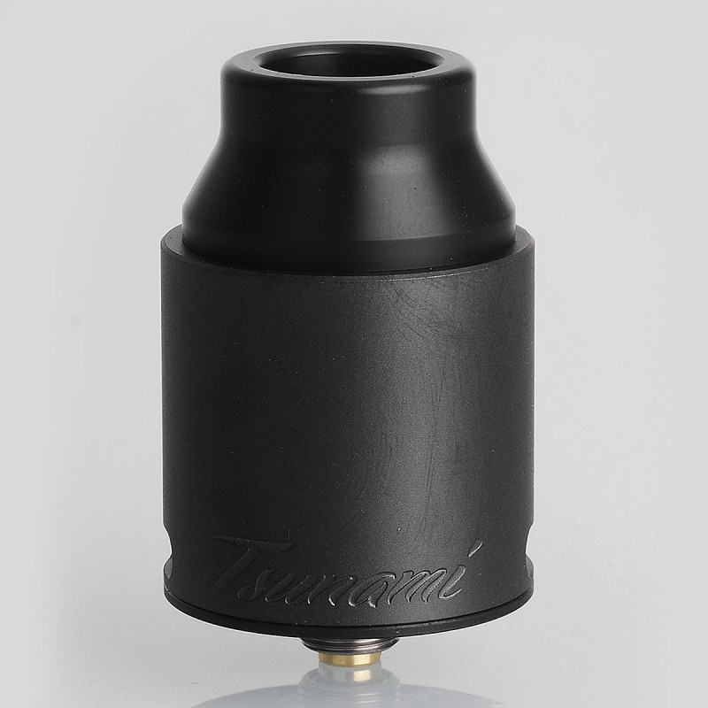Original GeekVape Tsunami Pro 25 RDA Black Dual Pole Single / Dual Coil 510 Rebuildable Drip Atomizer with BF Pin for Vape Mod