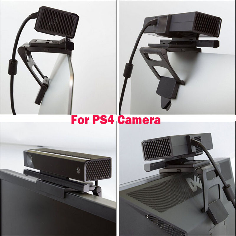 Adjustable TV Monitor Clip Mount Clamp Foldable Braket for Sony PlayStation 4 PS4 Move Eye Camera Sensor Stand Holder image