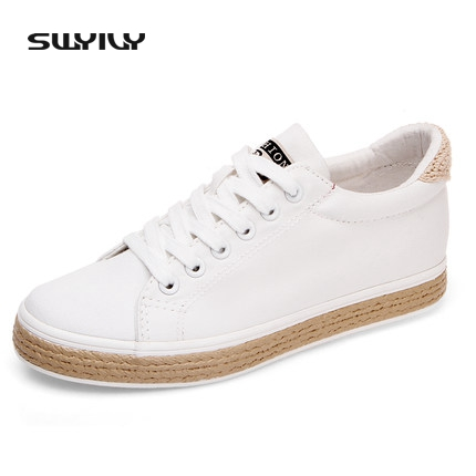 SWYIVY women casual shoes platform canvas shoes women casual woman sneakers 2017 summer breathable flat sneaker woman 2018 de la chance women vulcanize shoes platform breathable canvas shoes woman wedge sneakers casual fashion candy color students