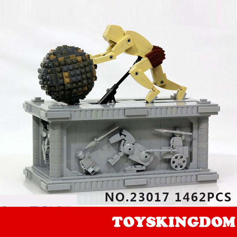 Hot creator builder Sisyphus dynamics Sculpture MOC building block model bricks educational electric toys collection for kids hot funland merry go round building block with motor figures whirligig bricks 10196 model electric toys collection for kids gfit