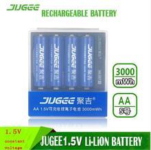 4 шт. 1.5 В 3000mWh AA Литий-полимерная Литий-ионный, литий-полимерный аккумулятор + 4 слот Usb зарядное устройство