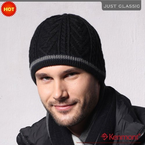 -30% Best Selling Men's Wool Beanie, Knitted Beanie Hat KM-1177-13 Navy Blue
