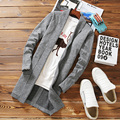 2017 spring sweater Cardigan Male Gray Winter Wool Sweater Pullovers Casual Regular Standard Long Mens Cardigans Outerwear Coats