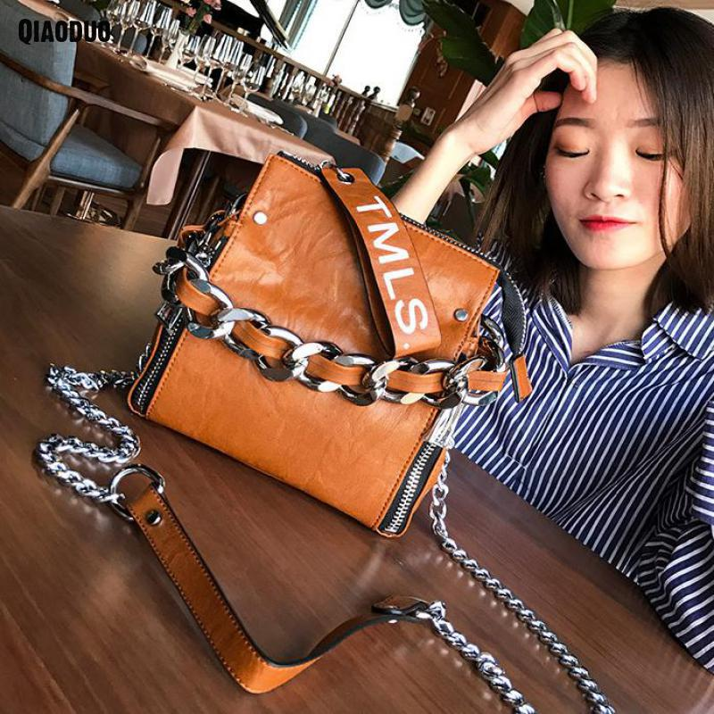 Bag Lady Leather Women handBag Crossbody Chain Shoulder Bag Bolsa Feminina 2018 Messenger Bag For Girls Sac A Main Hands Bags