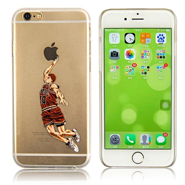 For Iphone 6 4 7 Transpa Custom Soft Tpu Case Super Basketball Player Dunk Show Phone Back