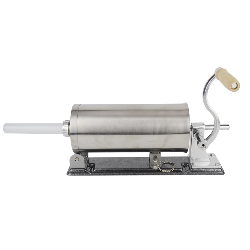 6 LBS homemade sausage stuffer filler stainless steel manual table sausage maker kitchen tool meat processor