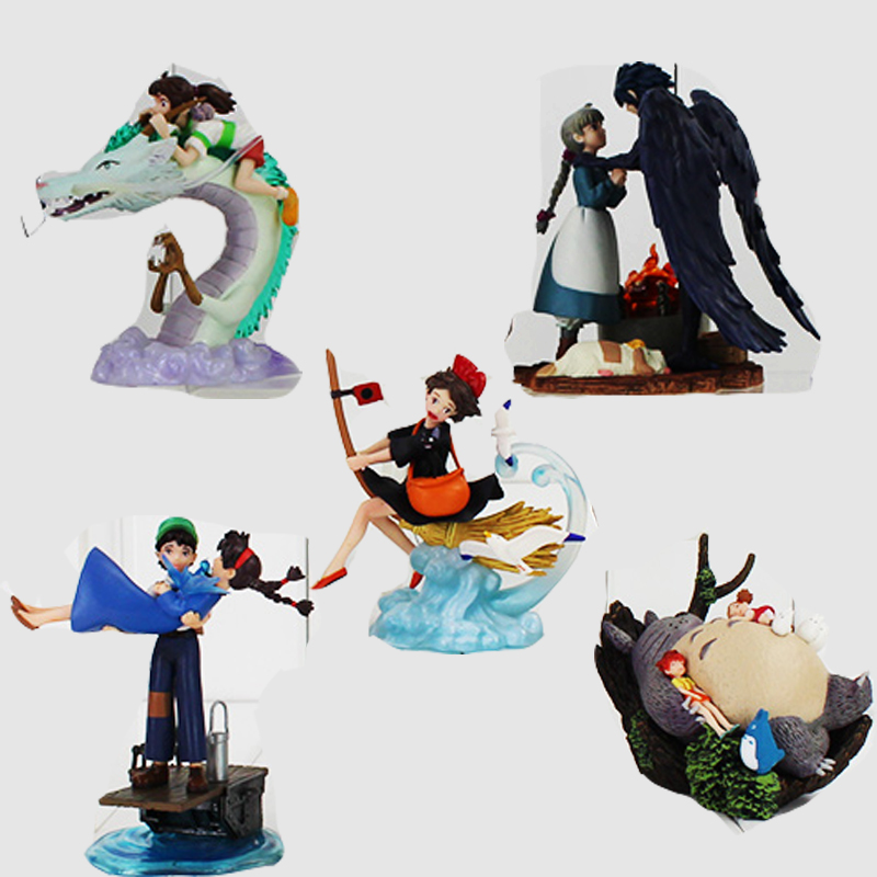 5pcs/set Hayao Miyazaki Warriors of the Wind The Borrower Arrietty Ponyo on the Cliff Spirited Away PVC figure Toy hunter е warriors omen of the stars 1 the fourth apprentice