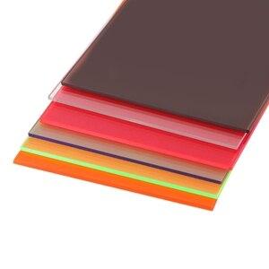 Image 3 - 1 قطعة زجاج شبكي مجلس متعدد الألوان الاكريليك ورقة الزجاج العضوي لتقوم بها بنفسك نموذج صنع المجلس 10x20cm