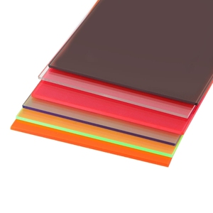 Image 3 - 1PC Plexiglass Board Multicolor Acrylic Sheet Organic Glass DIY Model Making Board 10x20cm