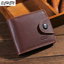 Men Wallets Fashion Mens Wallet with Coin Bag Zipper Small Money Purses Dollar Slim Purse Clip Buckle wholesale 393