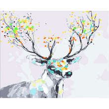 Digital Oil Painting Coloring By Numbers,DIY Hobby At Home,Painting Numbers Colorful Deer