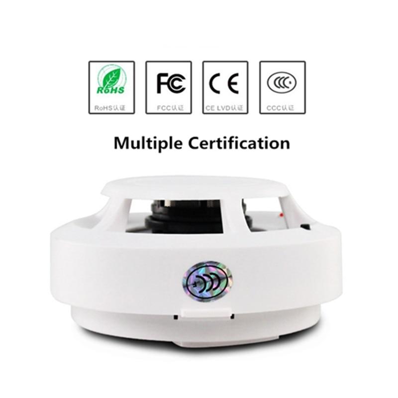 Smoke Detector High Sensitive Fire Alarm Sensor Home Office Warehouse Security Quick Reaction Wireless Fire Protection Equipment