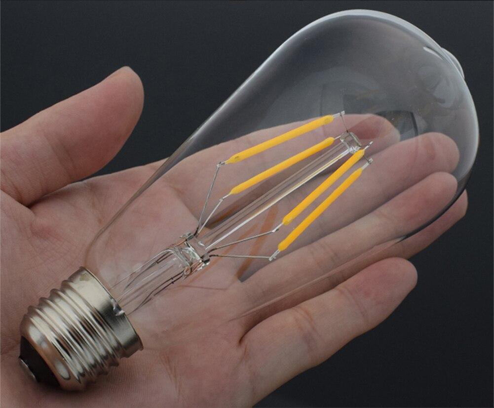 Image 5 - TSLEEN Vintage COB E27 LED Lamp Edison Lampada LED Bulb 110V 220V G45 A60 ST64 Filament Light 4W 8W 12W 16W Retro Light Ampoule-in LED Bulbs & Tubes from Lights & Lighting