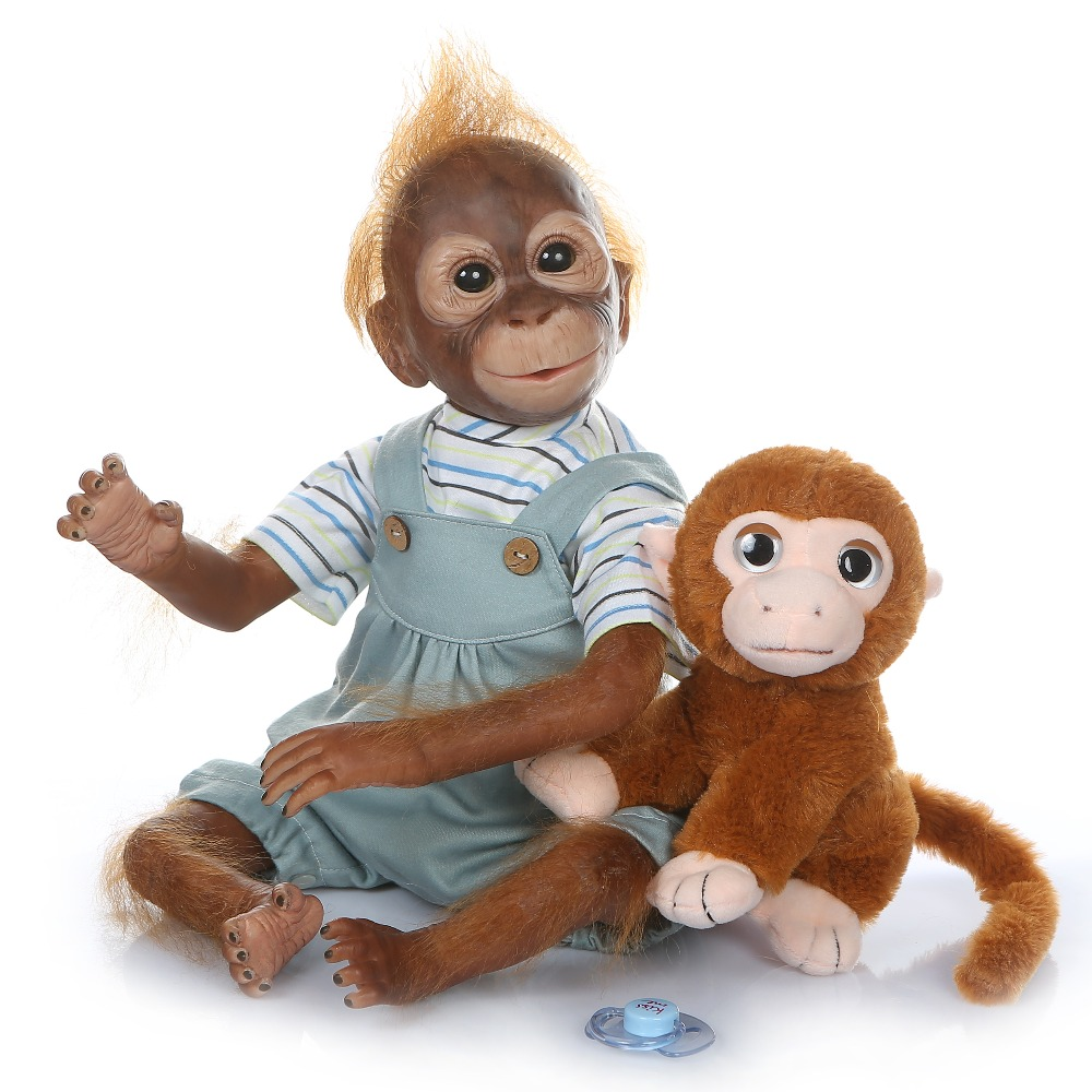 52 cm nouveau singe créatif Silicone bébé poupée 100% Non toxique Reborn bébés réaliste lol poupée pour enfants anniversaire noël bebe cadeau jouet - 2