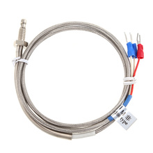High Quality PT100 Probe 2m RTD Cable Stainless Probe 100mm 3 Wires Temperature Sensor -45C to 500 C(China (Mainland))
