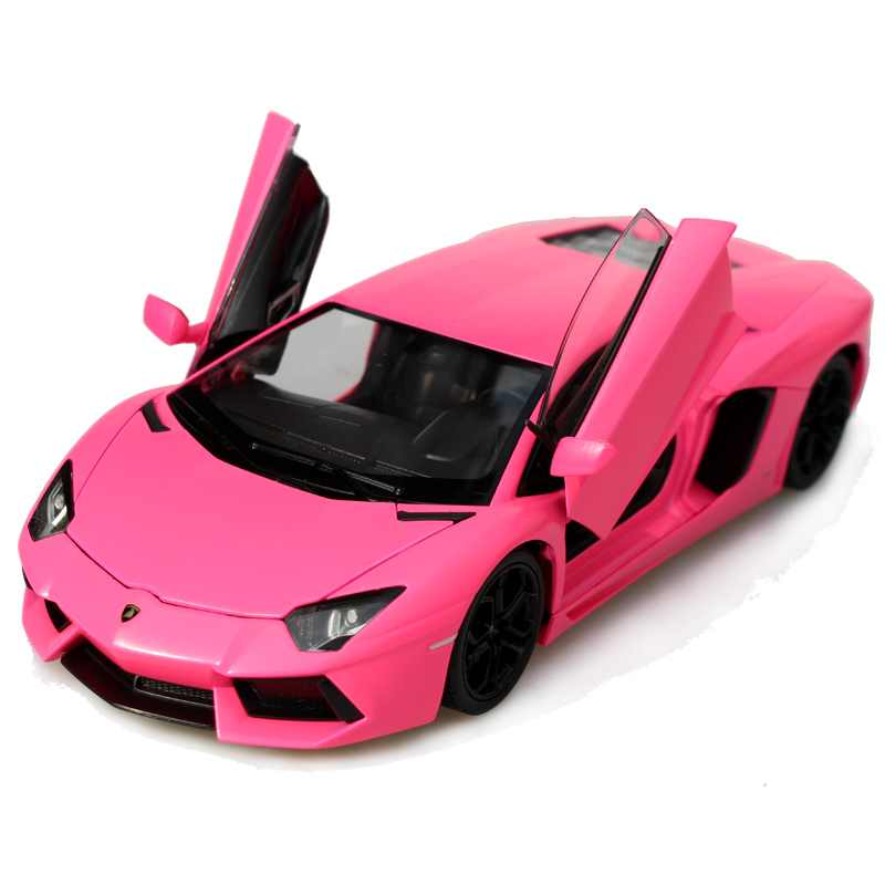 free shipping new figure 124 lp700 4 alloy model car pink kids gifts