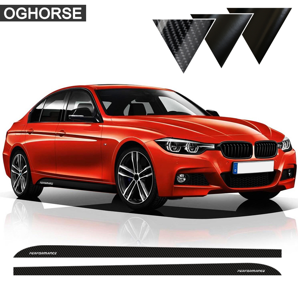 5d carbon fibre matte gloss black m performance side skirt sticker body decal for bmw f30 f31 m packet m model car styling