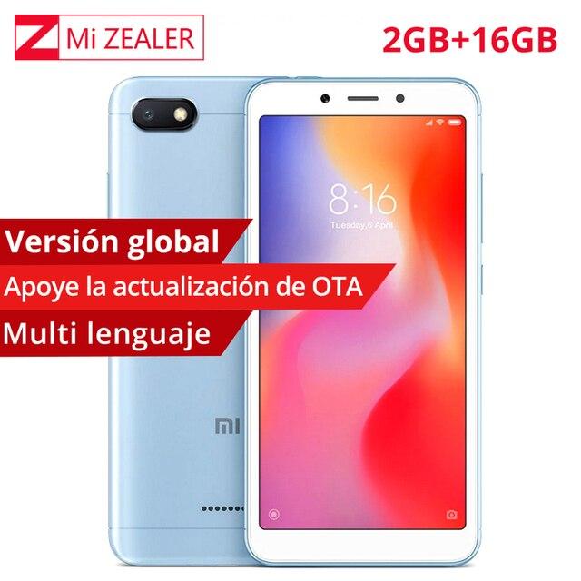 """Глобальная версия Xiaomi Redmi 6A 6 2 GB Оперативная память 16 Гб Встроенная память телефона 5,45 """"18:9 полный Экран MTK Helio A22 4 ядра 13MP Камера"""
