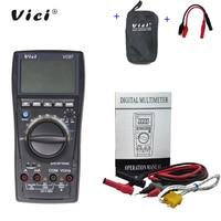 VICI VC97 3 3/4 digital multimeter voltmeter AC/DC voltage current Resistance Capacitance frequency Tester + Alligator Probe