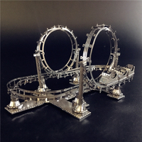 ММЗ модель NANYUAN 3D металлическая модель сборки американские горки развлекательные объекты головоломка оригинальная коллекция игровая площ...