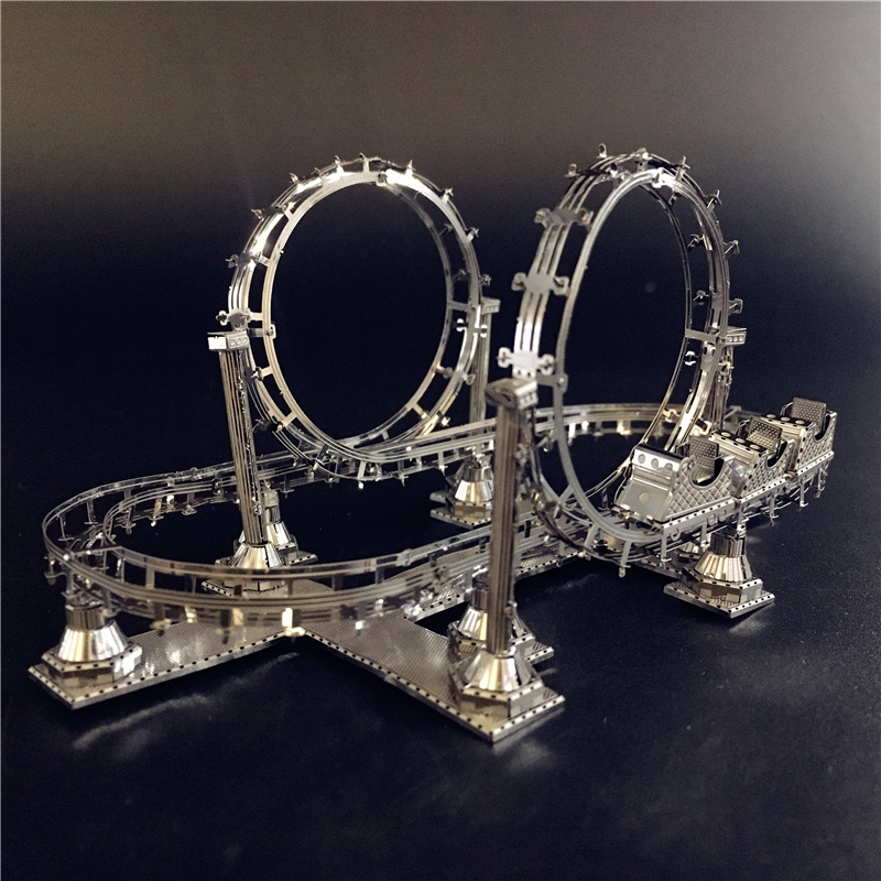 MMZ MODEL NANYUAN 3D Metal Assembly Model ROLLER COASTER Amusement Facilities Puzzle Originality Collection Playground Toys Gift
