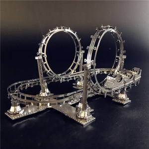 MMZ MODEL NANYUAN 3D Metal Assembly Model ROLLER COASTER Amusement Facilities Puzzle Originality Collection Playground toys gift(China)