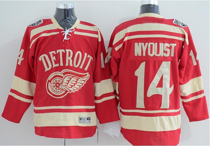 100% authentic 1640e fd34e Men's #14 Gustav Nyquist Jersey Winter Classic Detroit Red ...