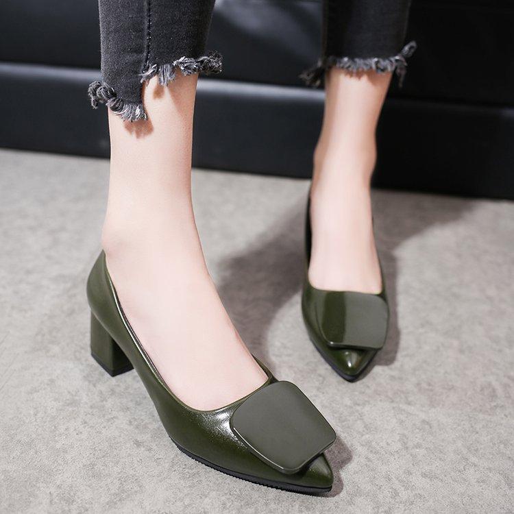 Chaude Hauts Pompes Noir argent Wonen Mode Brevet Talons En rouge Femmes Chaussures Bureau vert Cuir Nouveau Vente 2018 Mariage Sexy De wqY7RZnTxX