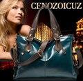 Venta caliente 2016 Nuevo Genuine Leather + PU Bolsos de Las Mujeres señora de La Manera Totes Alta Calidad de Hombro Ocasional Bolsas de Mensajero Para femenino