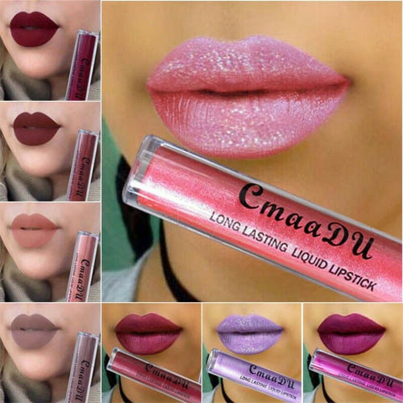 6 Color Makeup Matte Liquid Lipstick Waterproof Long Lasting Sexy Glitter Style Lip Gloss Makeup Beauty Red Lip Tint Cosmetics in Lip Gloss from Beauty Health