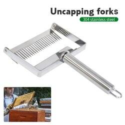 Nova chegada apicultura equipamentos de aço inoxidável maior descompactação garfo raspador mel faca agulha abelha ferramenta manutenção