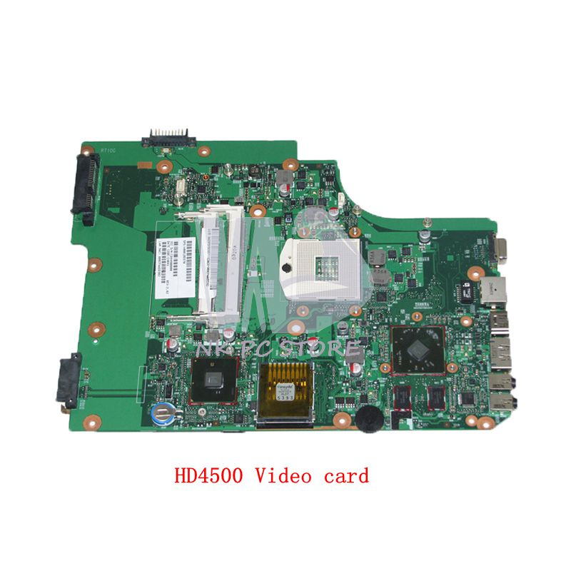 NOKOTION Laptop Motherboard For Toshiba satellite L505 MAIN BOARD HM55 DDR3 HD4500 GPU V000185570 6050A2313501 nokotion genuine h000064160 main board for toshiba satellite nb15 nb15t laptop motherboard n2810 cpu ddr3