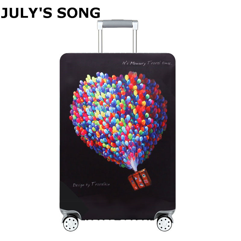 JULY'S SONG Thicker Suitcase Protective Cover For 18-32inch Trolley Luggage Case Cover Elastic Dust Cover Travel Accessories