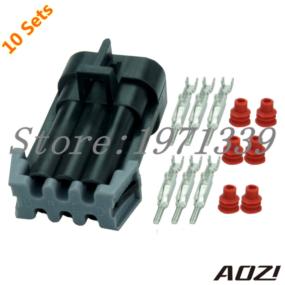 10 Sets Kit 6 Pins 1.65mm Series Male Waterproof Socket Wire ...