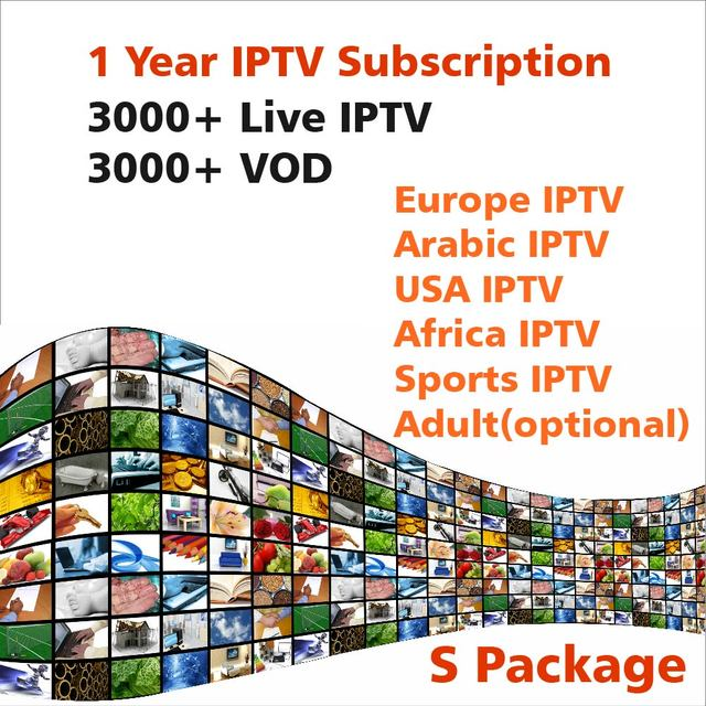 One year IPTV Subscription by Android APK MAG 25X 6000+ Live IPTV VOD for  Europe Arabic African USA Sports Adult 18+ Arabic IPTV