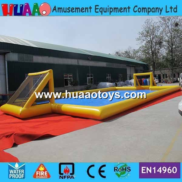 Free Shipping 16*8m Airtight Inflatable Soccer Court Inflatable Football Field Inflatable Football Pitch
