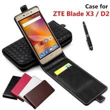 Классические роскошные advanced Топ Кожа Флип кожаный чехол для ZTE Blade X3/для ZTE Blade D2 телефона чехол с карт памяти