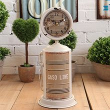 Retro American Style Creative Electronic Desk Clock Living Room Home Furnishing Decoration Clock Ornaments Vintage Table Clock