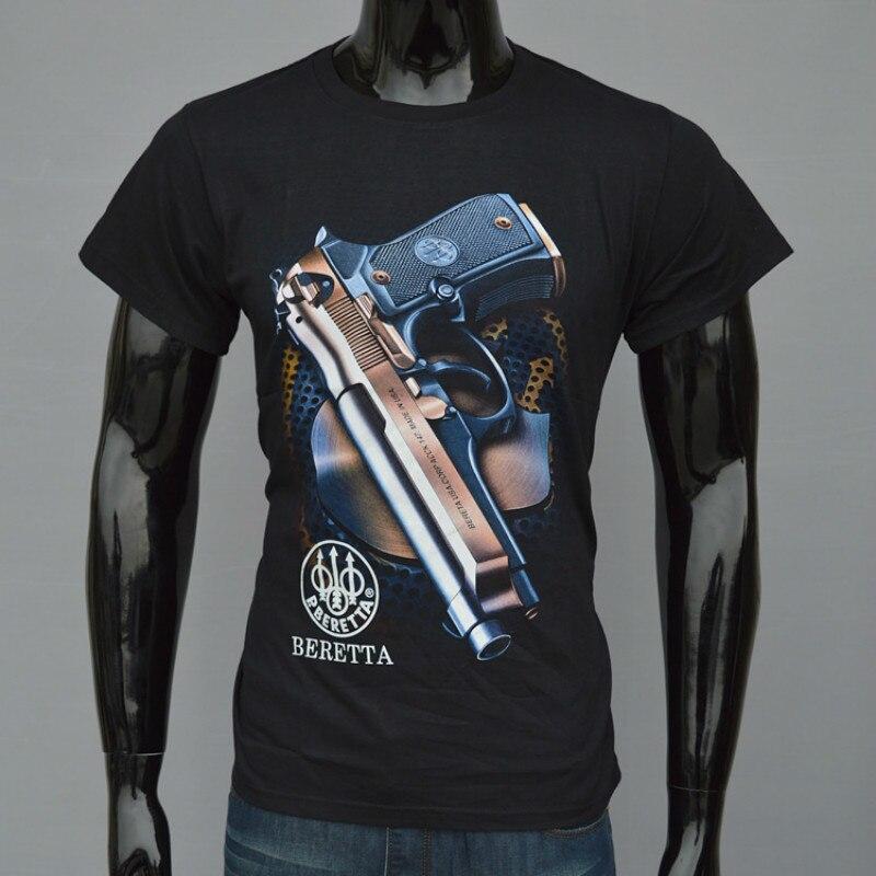 Men 3D man printed t-shirts Gun T-Shirt Tactical Soldiers Print Tees Casual Tops Black male t shirt homme fashion