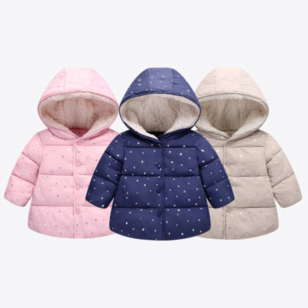 Child Kids Girl Boy Winter Hooded Coat Cloak Jacket Thick Warm Outerwear Clothes