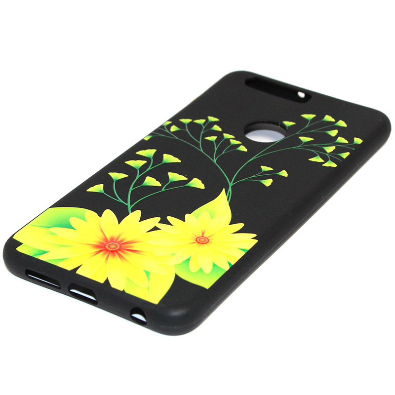 3D Relief flower silicone case huawei honor 8 (22)