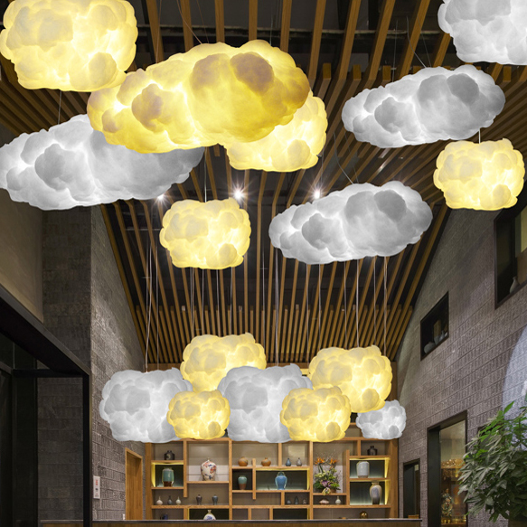 White Clouds Hanging Lights Floating Cloud Droplight Modern Cotton Pendant Fixture Home Indoor Lighting E27 Ac90v 260v In From