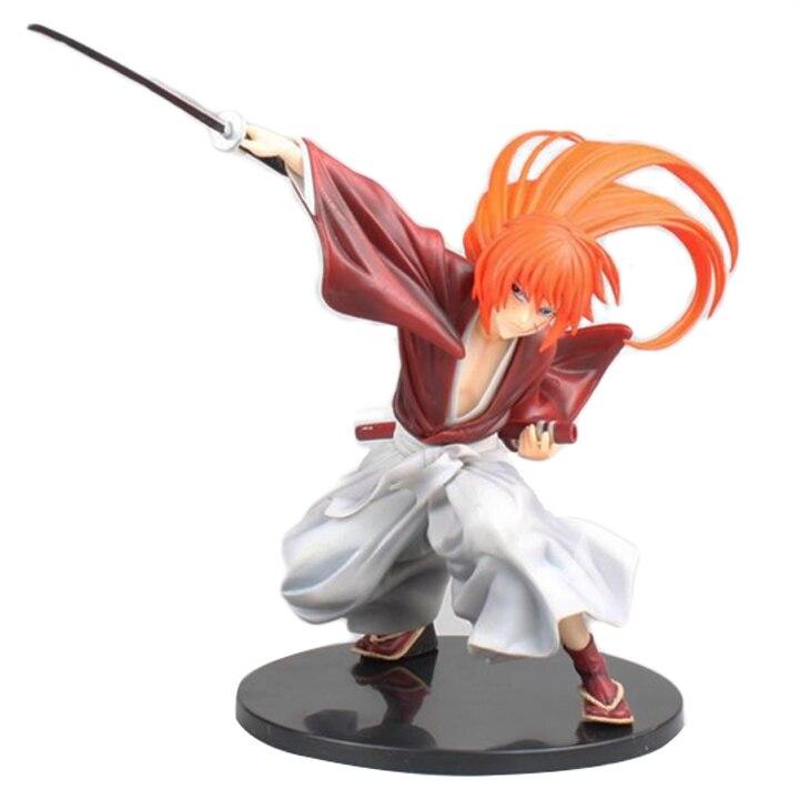 Rurouni Kenshin Meiji Swordsman Romantic Story Kenshin Himura Figure Toy Model