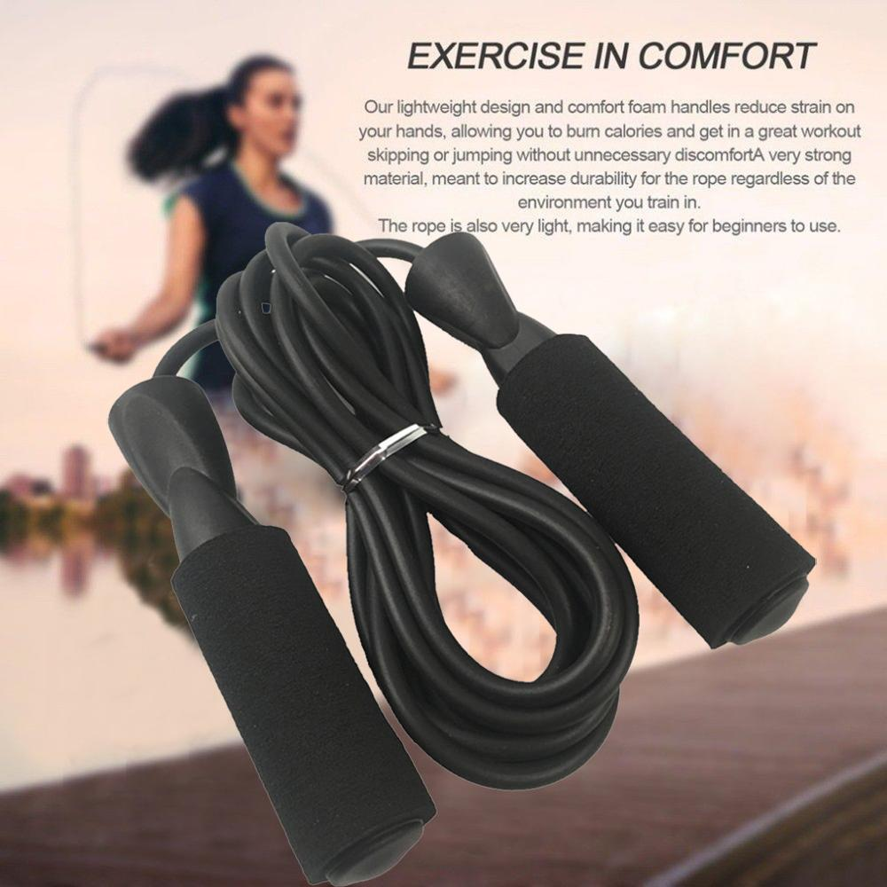 NEW Boxing Skipping rope jumping rope steel wire heavy handles fitness gym  9ft