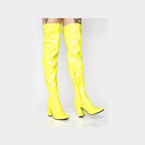 Image 5 - Mstacchi Sexy Party Shoes Woman Over The Knee Boots Girls Fancy Dress High Heel Women Boots Bright Patent Leather Long Boots 48