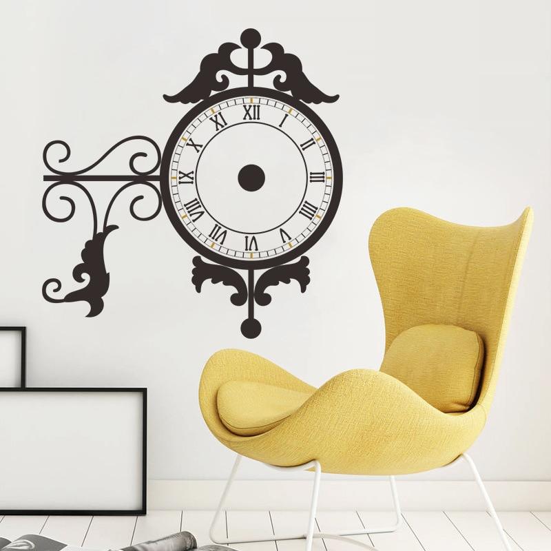 & retro flower Decoration real Wall Clock Wall Sticker DIY home ...