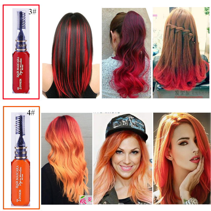 Aliexpress.com : Buy Brand Temporary Color Hair Dye Mascara ...
